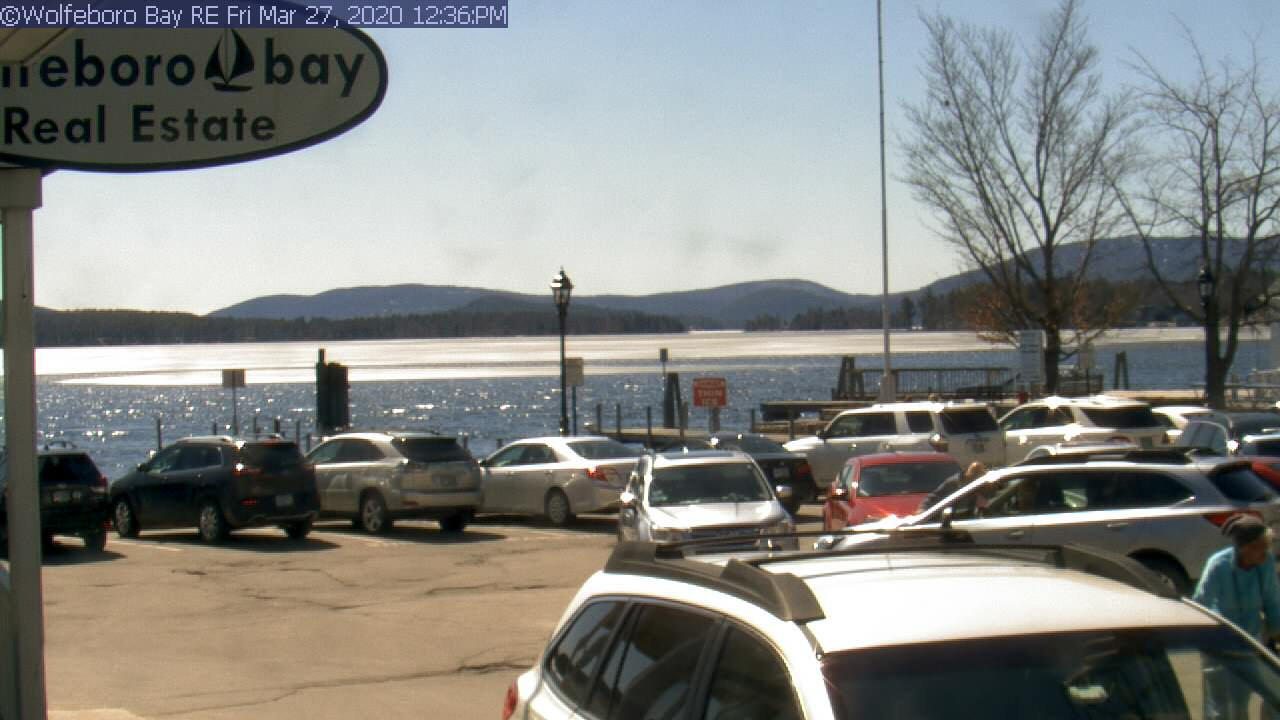 Live view at the town docks in Wolfeboro Bay on Lake Winnipesaukee, Wolfeboro NH